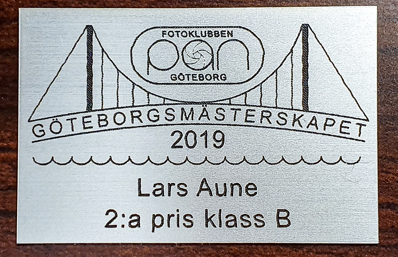 Silverplakett Göteborgsmästerskapet 2019